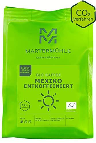 Martermühle - Bio Kaffee Mexiko entkoffeiniert (ganze Bohnen 1kg, Premium Kaffee Arabica, mild, leicht schokoladig)