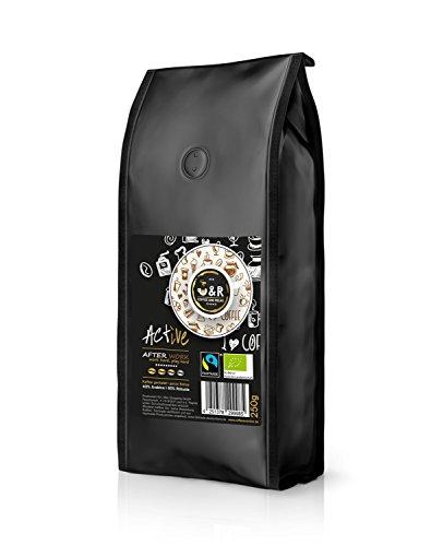 """C&R coffeeandrelax, """"Active – After Work"""" 250g; extrem hochwertiger premium Bio und Fairtrade Kaffee -></noscript> offiziell zertifiziert; spezielles Trommelröstverfahren auf höchstem Niveau, ganze Bohnen""""><br />                         </a><br />                     </figure> </p></div> <hr> <div class="""
