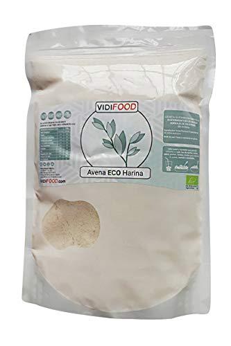 Bio-Hafermehl - 1kg - Glutenfreie, aveninfreie und gentechnikfreie Haferflocken - Ideal für eine ballaststoffreiche und fettarme Ernährung