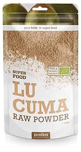 Purasana Lucuma Pulver Bio 200g - köstlich, süße Frucht - Gute Alternative zu Zucker, vegan, laktosefrei, glutenfrei