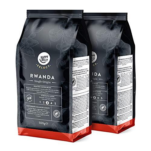 Amazon-Marke: Happy Belly Select Kaffeebohnen aus Ruanda, 2 x 500gr