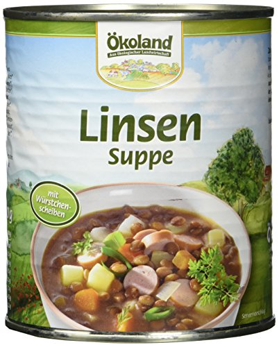 ÖKOLAND Linsensuppe, 3er Pack (3 x 800 g)