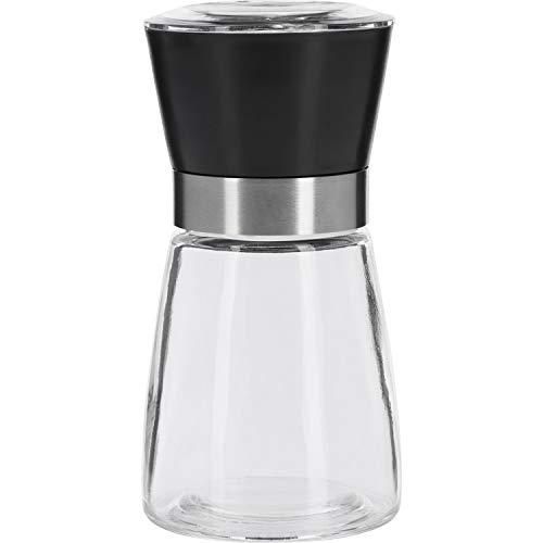 Westmark Gewürzmühle, Mit Keramikmahlwerk, Stufenlose Regulierung, Glas/Kunststoff, Schwarz/Silber/Transparent, 63542260